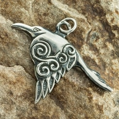 Celtic Crow Raven Pendant
