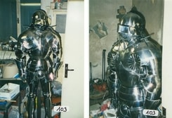 CUSTOM SUIT OF ARMOUR, plate armor, 1.5 mm