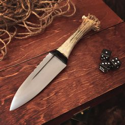 Sgian Dubh, Scottish knife with antler