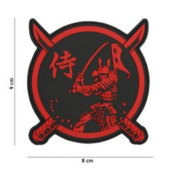Samurai Warrior Patch, Red Patch 3D PVC