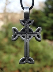 CELTIC CROSS WITH LEAVES, pendant