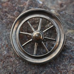TARANIS WHEEL, bronze Celtic replica