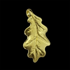 OAK LEAF, pendant, 14K gold