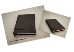 BOOK IN LEATHER CASE, A5, 100 pages