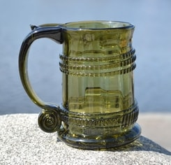 BEER GLASS, halfliter, historical glass