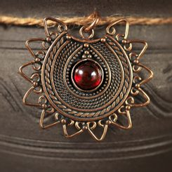 LADA, dark age jewel, the 9th century, bronze and gemstone