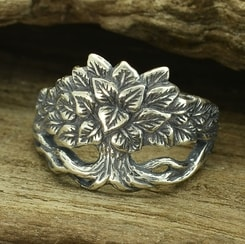 LINDEN TREE RING, silver
