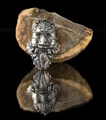 Oak Green Man, sterling silver pendant