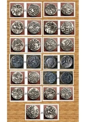 SET OF 13 Iron Age Coins, Celtic Coins II, replicas