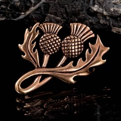 SCOTTISH THISTLE, bronze brooch