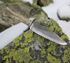 HOLT, Bowie knife with antler, hamon hardening