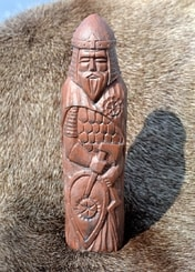 Perun, Slavic God, artificial stone - brown