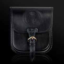 ALBA, Scottish Thistle, Leather Belt Bag - black