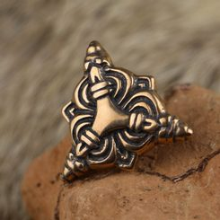 Viking Belt Stud, Borre, Bronze