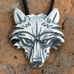 VUK, Wolf Pendant, sterling silver