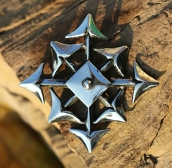 STAR OF CHAOS, Chaosphere, silver pendant