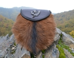 SCOTTISH SPORRAN with fur, thistle