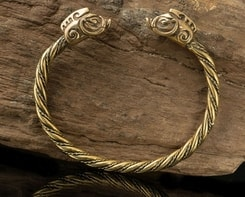 COLLACH, Celtic Boar, bracelet, brass