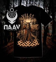VELES, Slavic God, men's T-Shirt colored