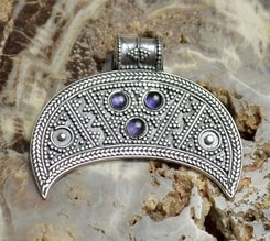 LUNULA, FEMALE FERTILITY JEWEL, IX. Century, Replica, silver 925