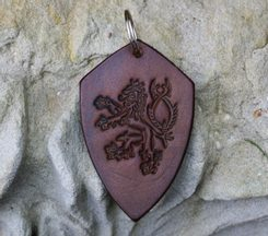 LION - coat of arms - key ring brown