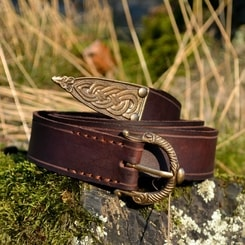 VIKING BELT, Borre Beast, leather