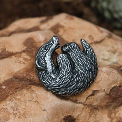 BADGER, pendant, zinc