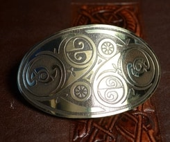 LÍOBHAN, brass hair clip, Made in Ireland