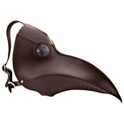 Plague Doctor, Leather Mask brown