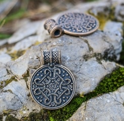 BIRKA, viking pendant, replica, bronze