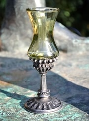 REGIA, historical glass goblet, decorative replica