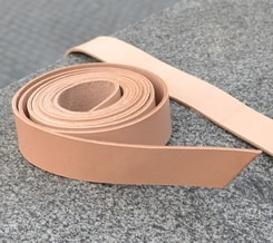 LEATHER BELT STRAP, 1.5 x 140 cm