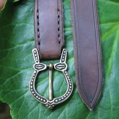 VIKING Leather Belt Gotland, brown