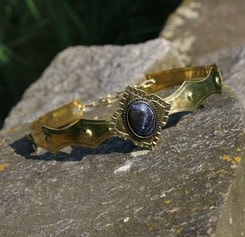 SIRAEL - MEDIEVAL GOTHIC CROWN with Sodalite