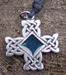 Celtic Knotted Cross with Enamel