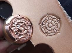 MEDIEVAL ROSE, leather stamp