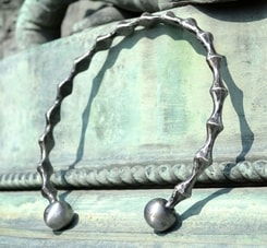 BIOINDUSTRIAL, hand forged steel torc, torques