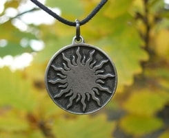 CELTIC SUN AMULET