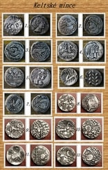 SET OF 12 Iron Age Coins, Celtic Coins, replicas