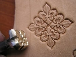 FRENCH LILY, leather stamp