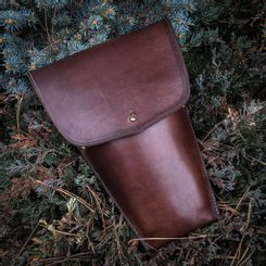 LEATHER BELT CASE for 3 Throwing Knives
