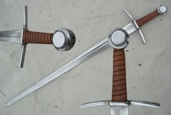 Single Hand Sword with Wheel Pommel