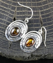 ZARIA, amber, earrings, sterling silver