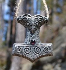 BIG THOR HAMMER from Skane - Sweden, Ag 925