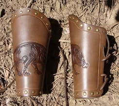 BRACERS with PICTISH BOARS