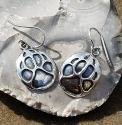 WOLF TRACK, earrings, sterling silver
