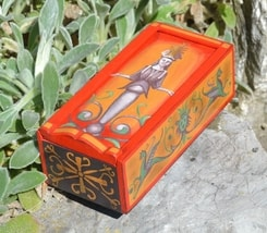 GODDESS, Ancient Rome Wooden Box, replica