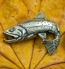 Trout - Fish, pendant, sterling silver