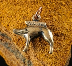 CELTIC BOAR, Neuvy-en-Sullias, bronze pendant