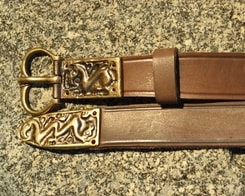 SLAVIC LEATHER BELT WITH GRIFFIN